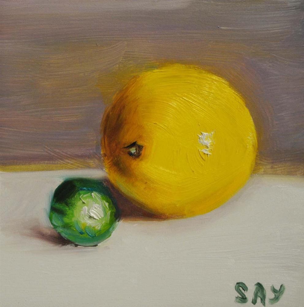 """Candy and Lemon - by my daughter Sofiya"" original fine art by Elena Katsyura"
