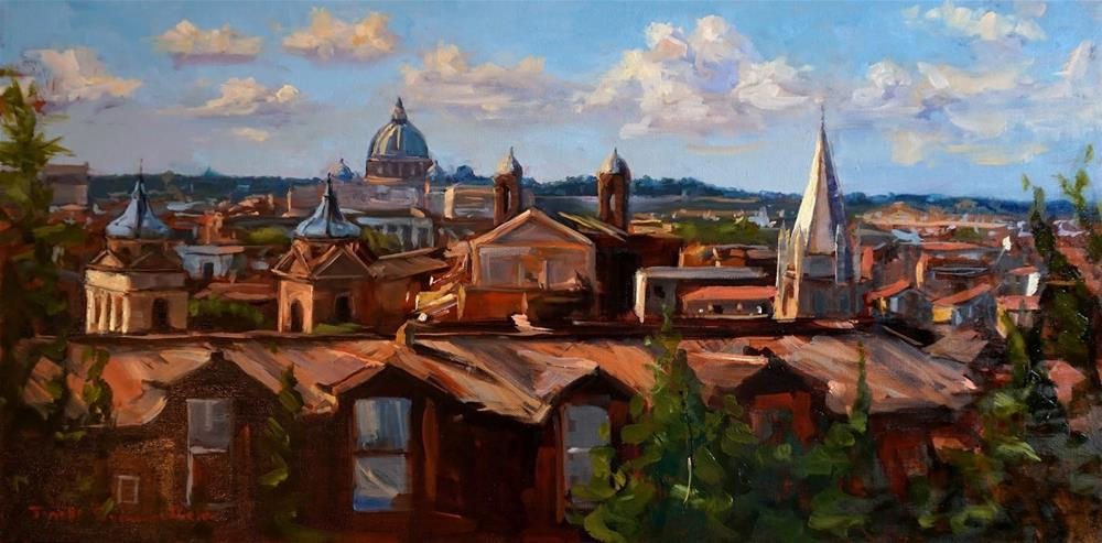 """View of Rome"" original fine art by Jonelle Summerfield"