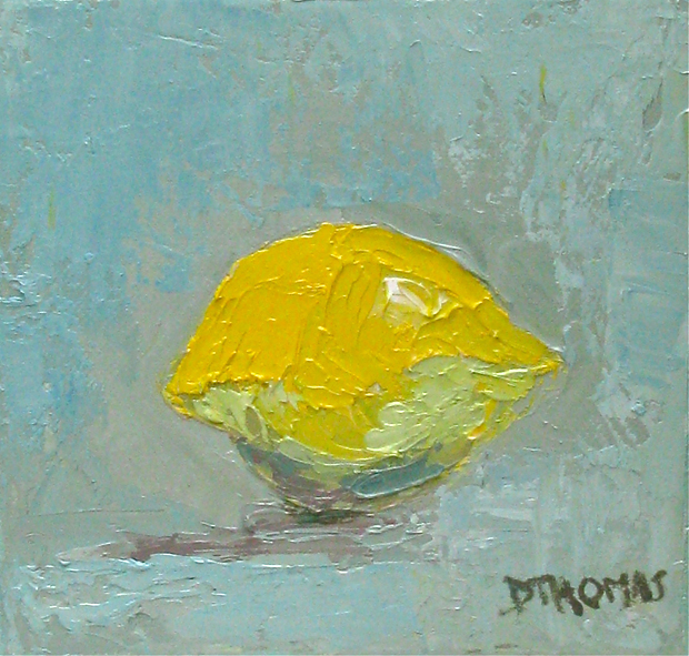 """Lemon Study"" original fine art by Donna Thomas"