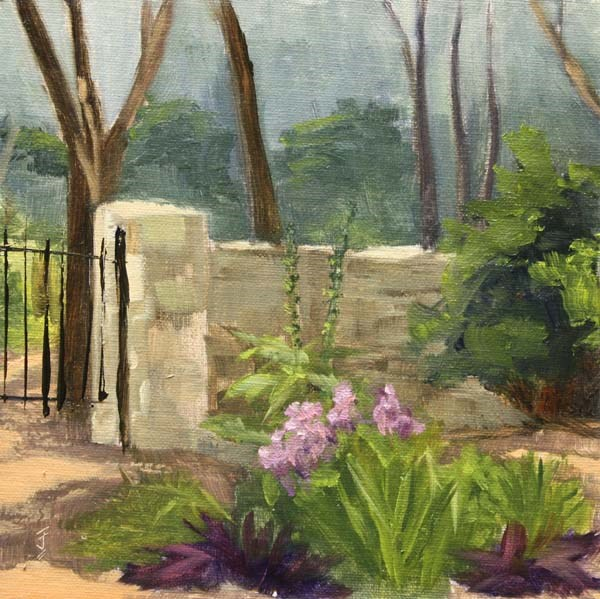 """Mayfield Garden Gate"" original fine art by Jane Frederick"
