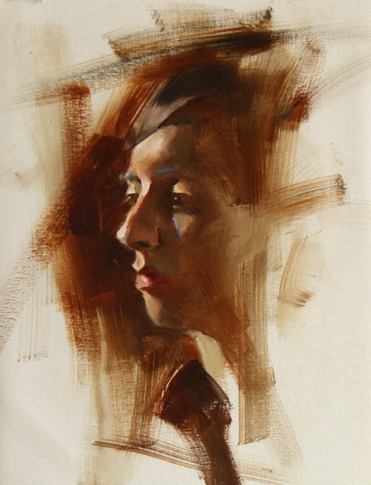 """Head Study 020415"" original fine art by Qiang Huang"