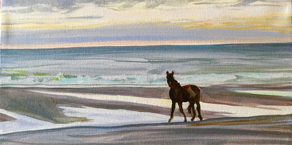 """Caught Sneaking Out"" original fine art by Lauren Kuhn"