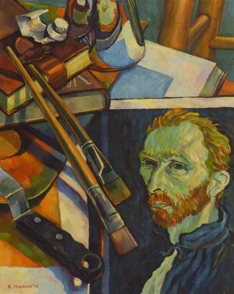 """Master Class with Van Gogh"" original fine art by Katya Minkina"
