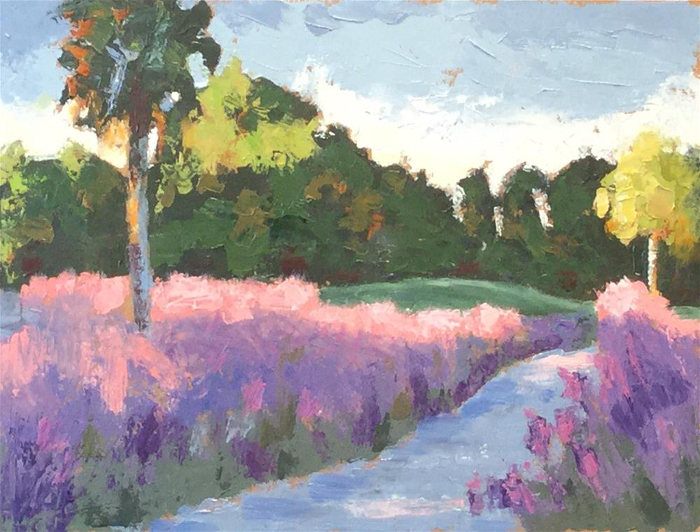 """Sweetgrass Along the Cart Path"" original fine art by Judy Elias"