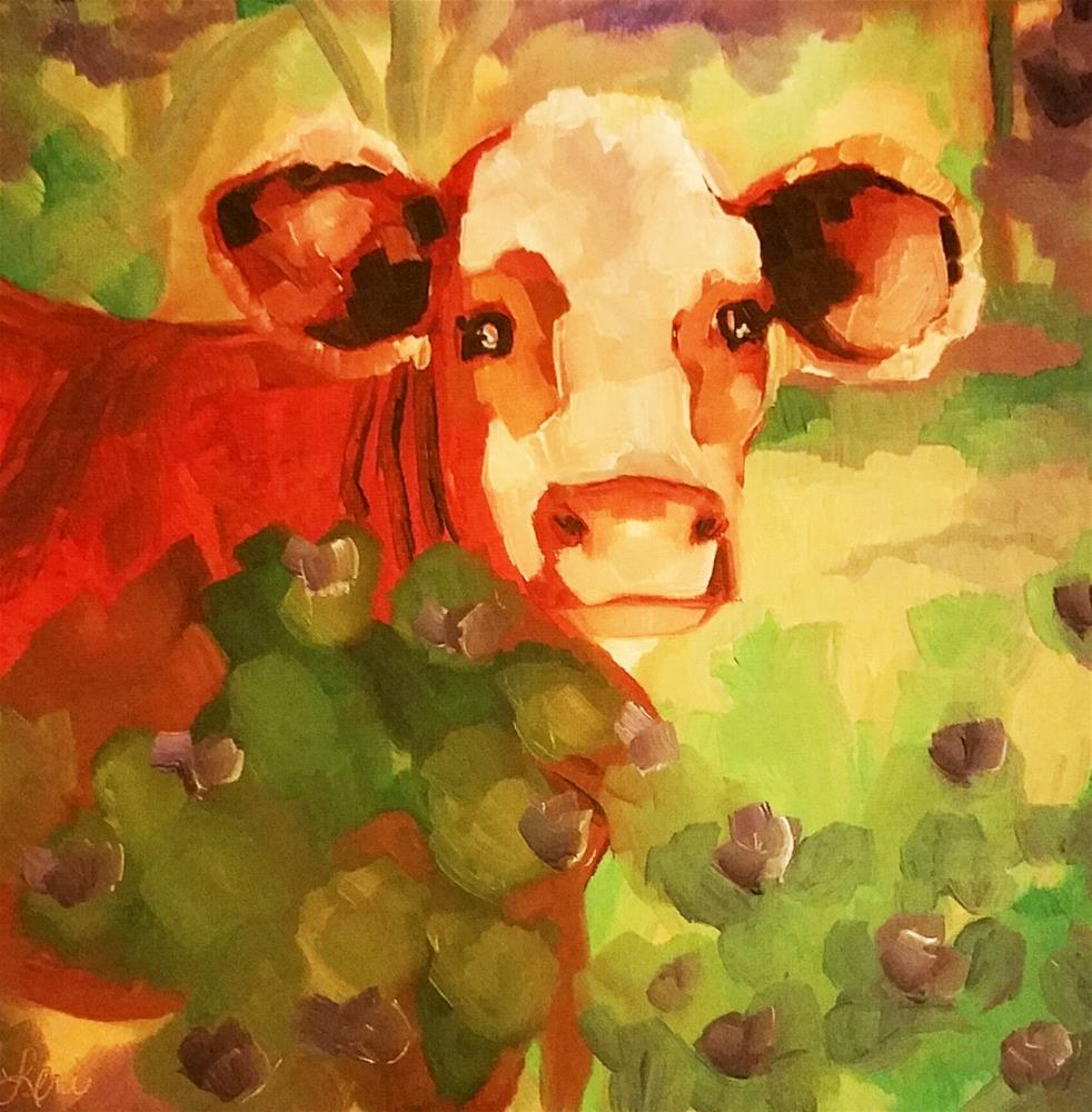 """Sweet Cow"" original fine art by Leni Tarleton"