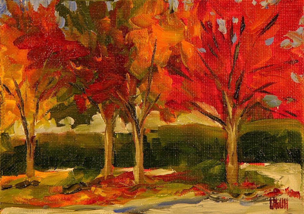 """Autumn Colors"" original fine art by Mary McInnis"
