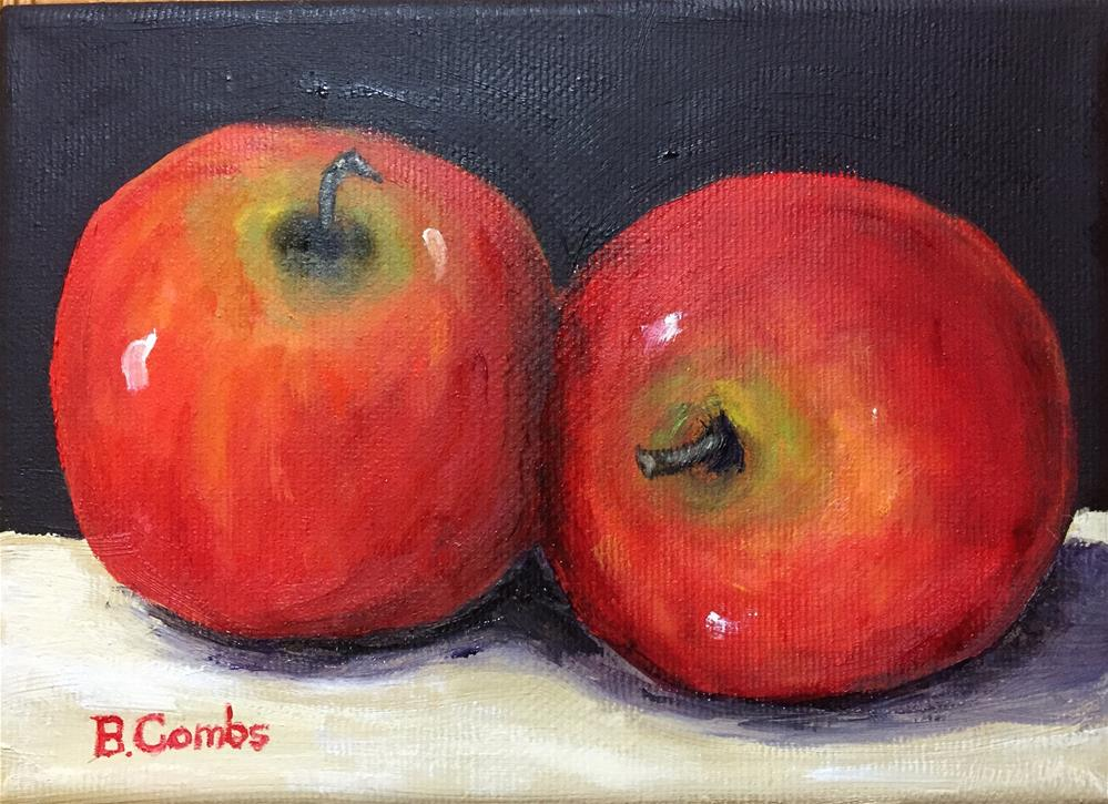 """Two Apples"" original fine art by Bebe Combs"