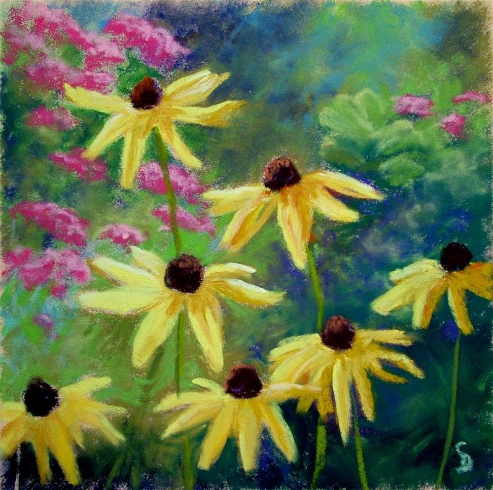 """""""Rudbeckias"""" original fine art by Christine Derrick"""