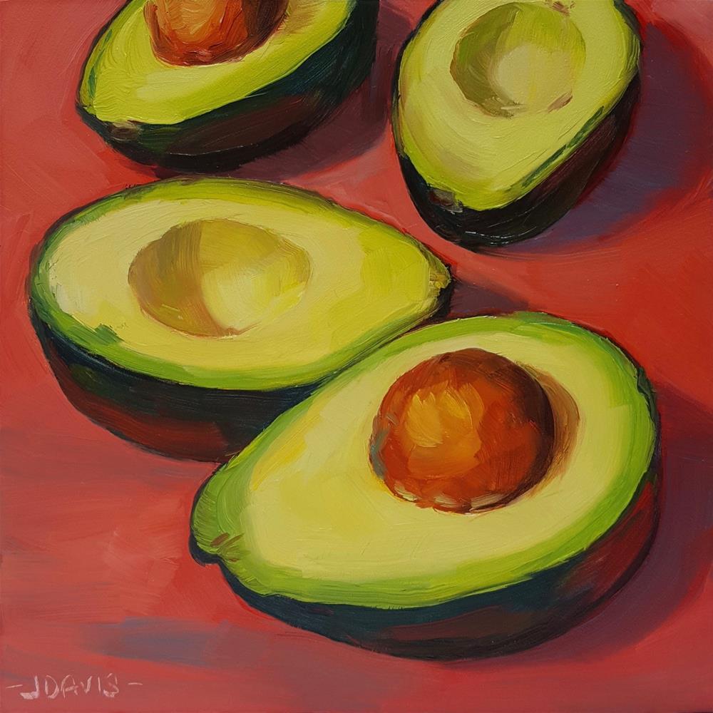 """Avocado Fiesta"" original fine art by Jacqueline Davis"