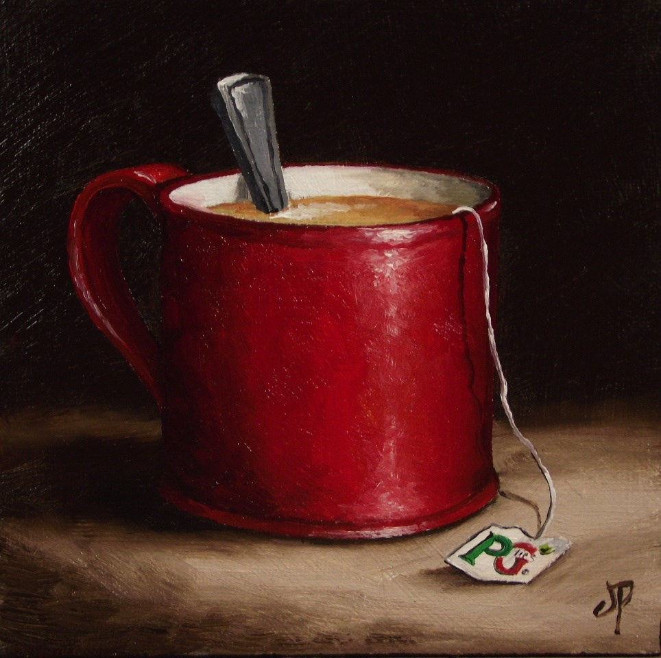 """Mug of Tea"" original fine art by Jane Palmer"