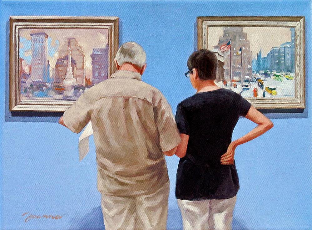 """""""Sightseeing--Painting People in Museum/Gallery Series"""" original fine art by Joanna Bingham"""
