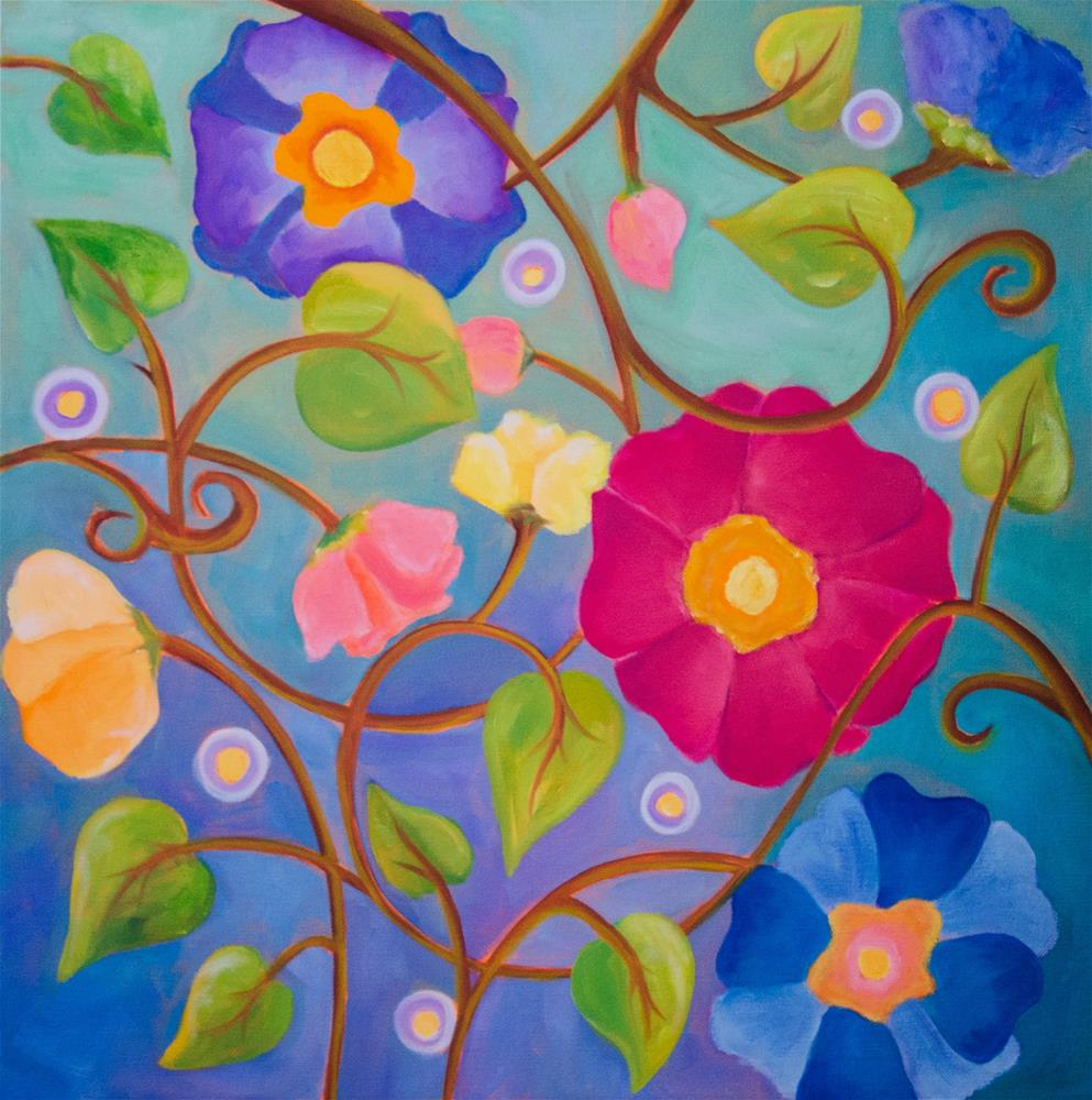 """Bouquet Dance"" original fine art by Susan Bertocci"