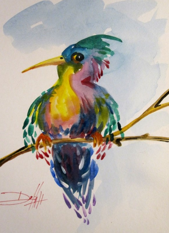 """Hummingbird No.8"" original fine art by Delilah Smith"
