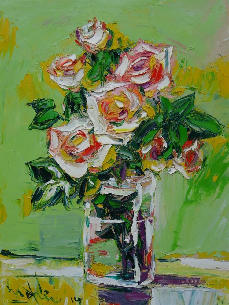"""""""Flowers"""" original fine art by Duc Tran"""