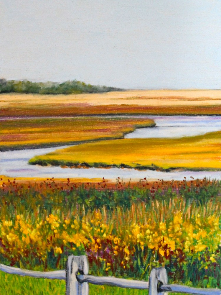 """Eastham Yellow"" original fine art by Jill Bates"