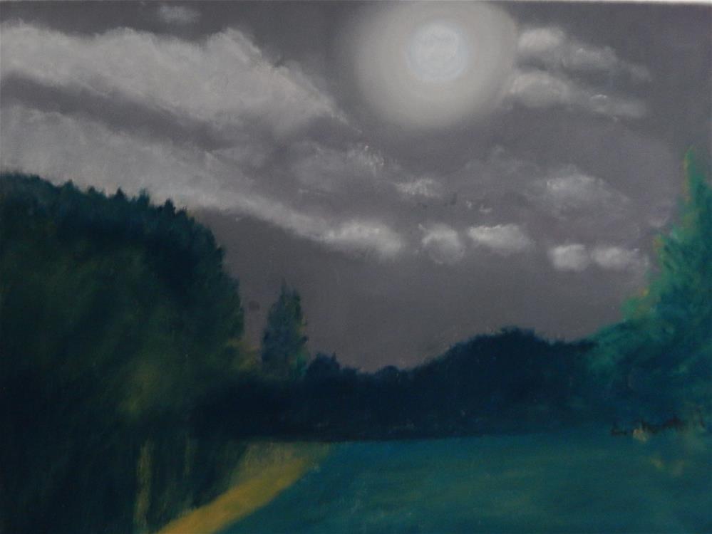 """""""Blue Moon"""" original fine art by Elaine Shortall"""