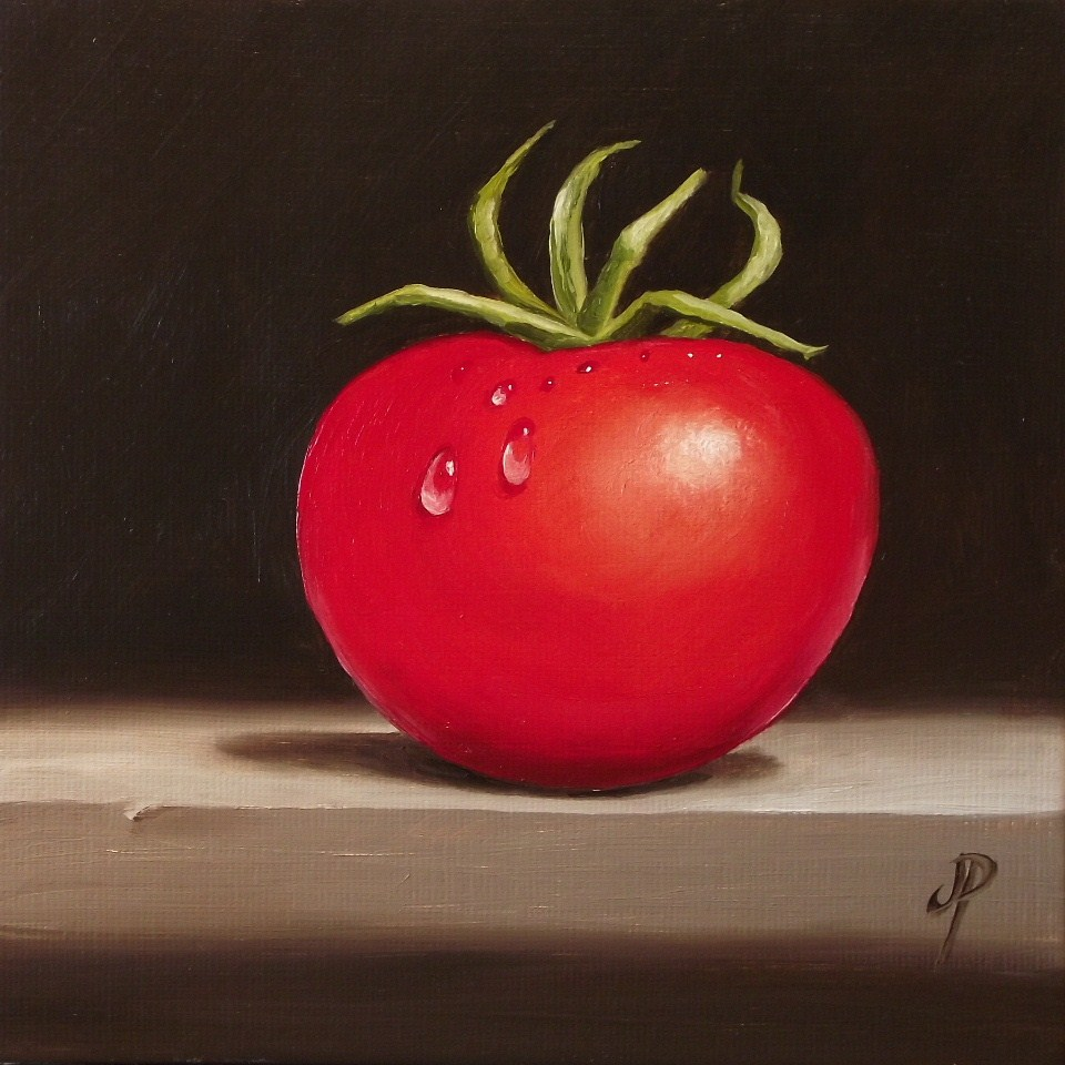 """Tomato"" original fine art by Jane Palmer"