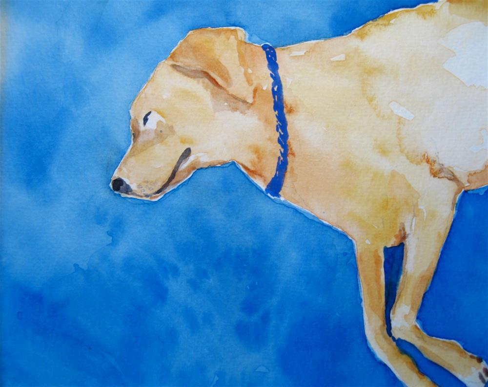 """Dream Dog"" original fine art by Judith Freeman Clark"