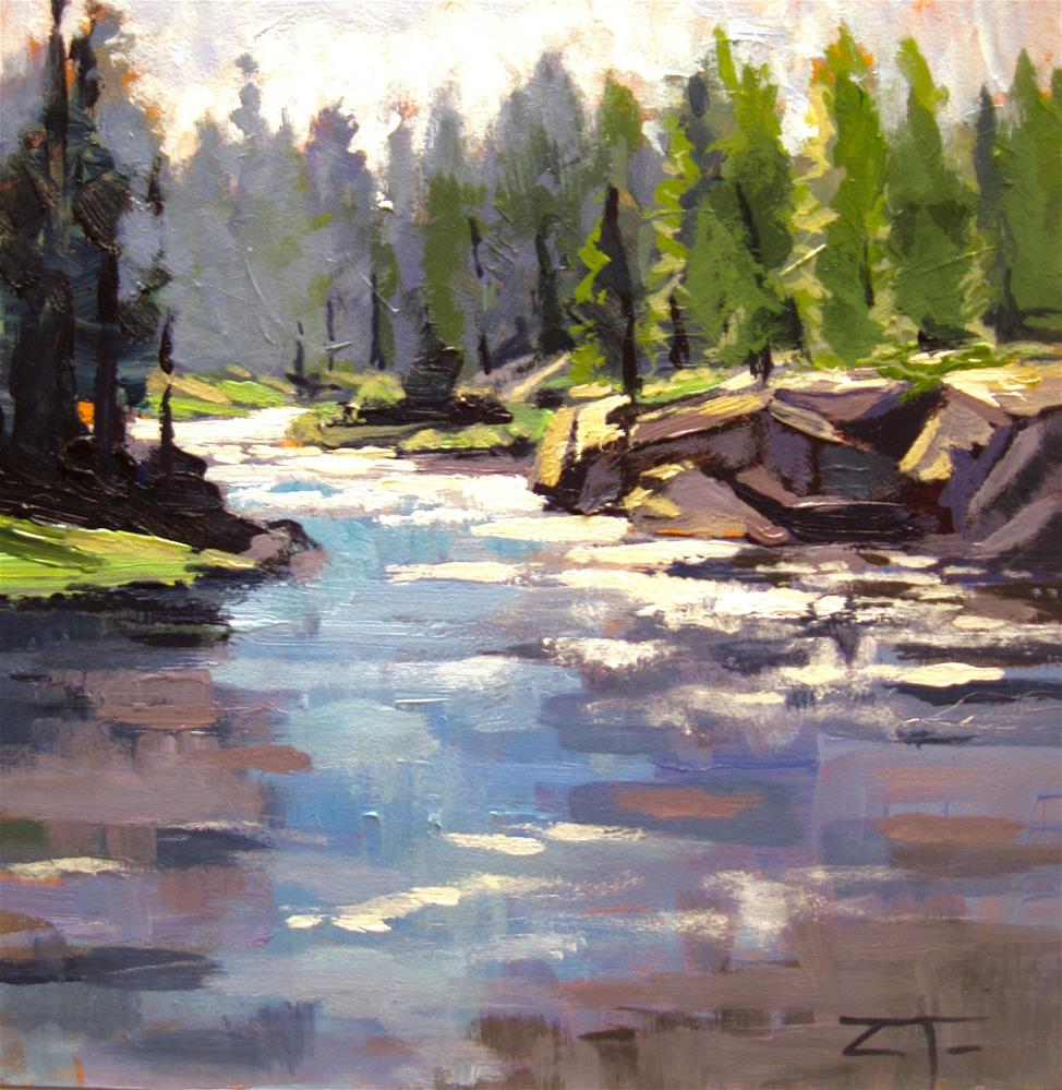 """Deschutes River Bend"" original fine art by Zack Thurmond"