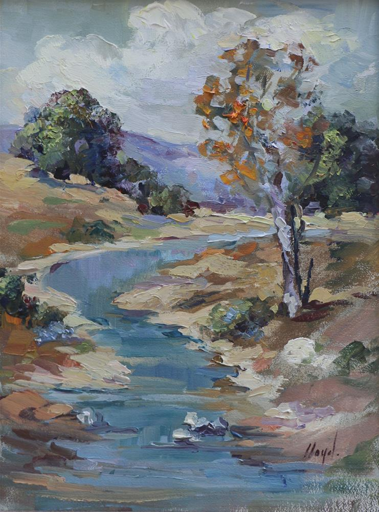 """The Stream"" original fine art by Diane Lloyd"