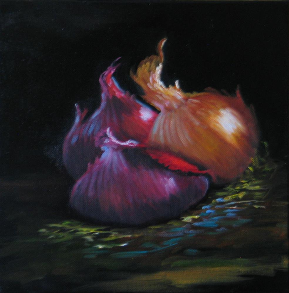 """Onions"" original fine art by Richard St.Jean"