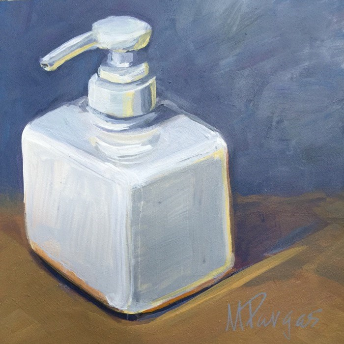 """Clean Dispenser"" original fine art by Mary Pargas"