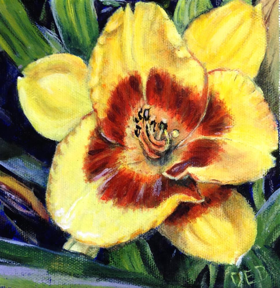 """Daylily Outing"" original fine art by Debbie Yacenda"