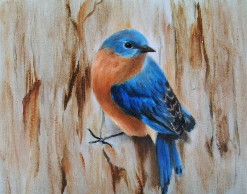 """Eastern Bluebird"" original fine art by Lynn Darby"