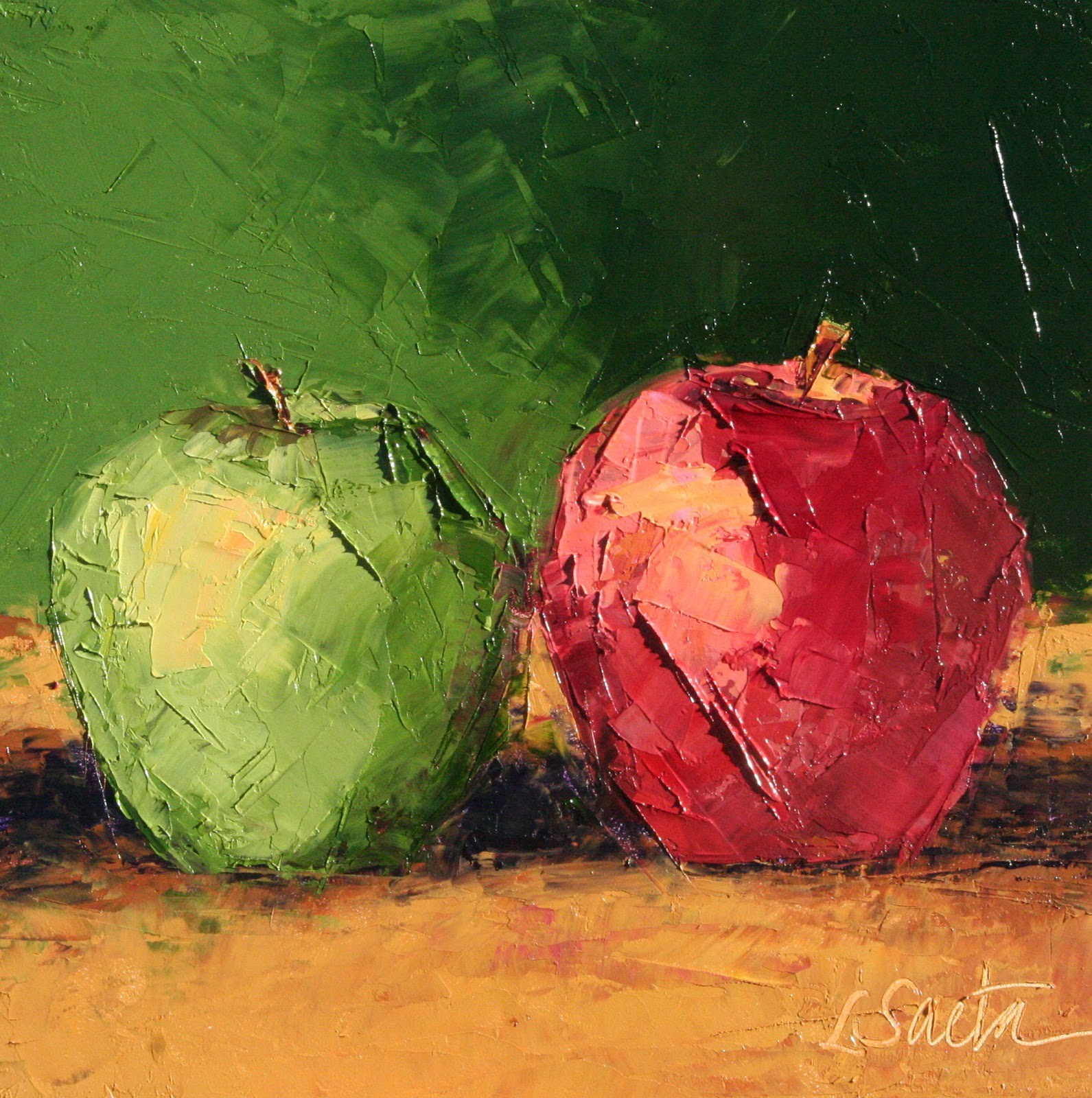 Two Thirds original fine art by Leslie Saeta