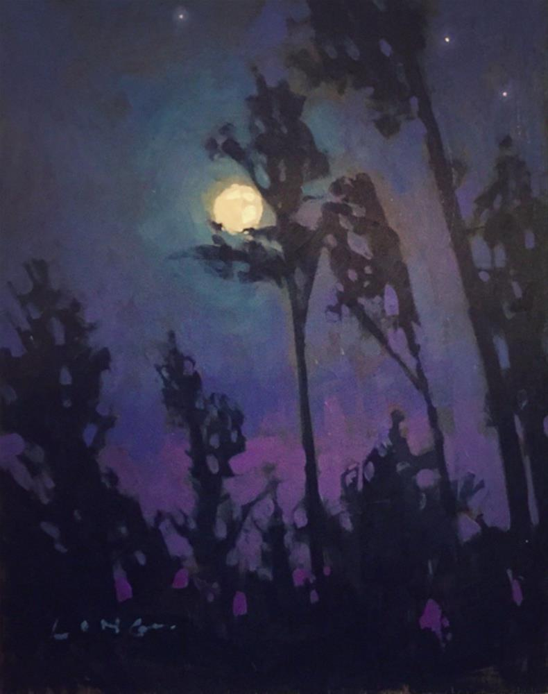 """Fontainebleau Nocturne"" original fine art by Chris Long"