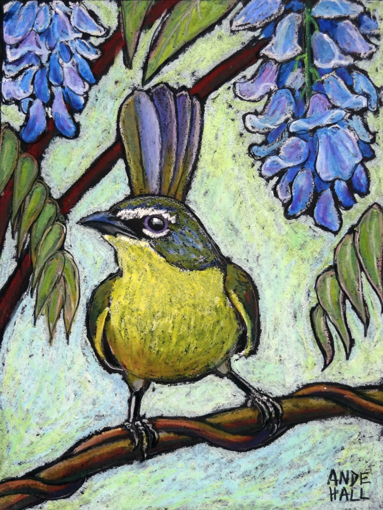 """Yellow Breasted Chat"" original fine art by Ande Hall"