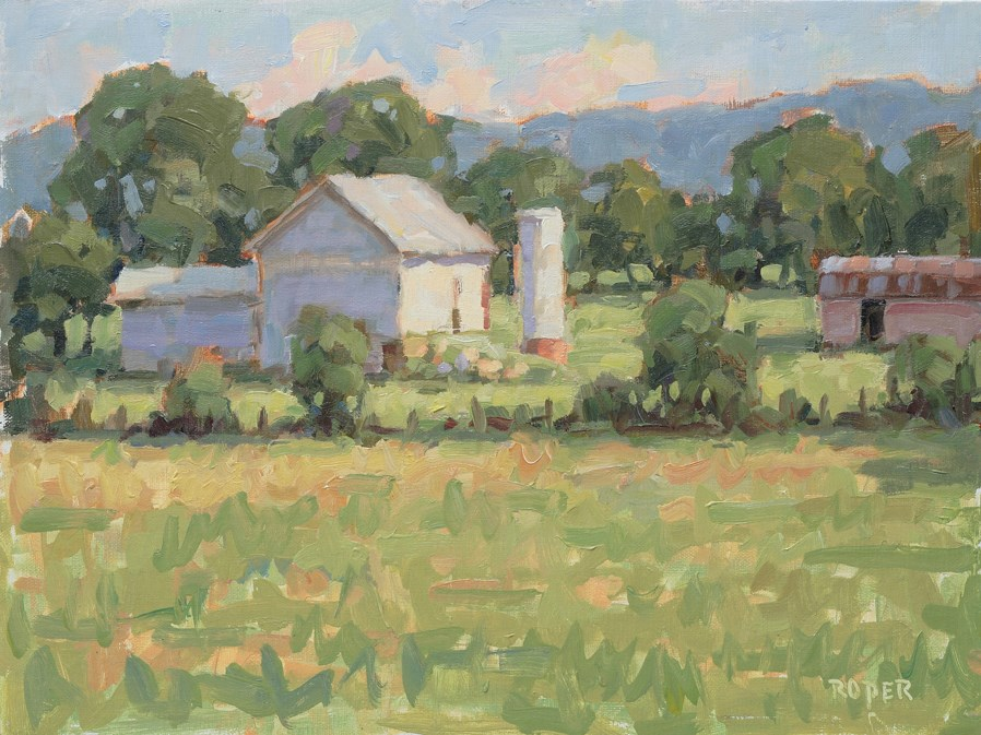 """DAY 15 - Late Afternoon Near Gettysburg"" original fine art by Stuart Roper"