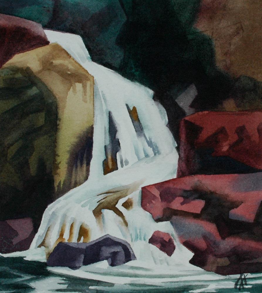 """Falls, Salmon Creek, Oregon"" original fine art by Mark Allison"