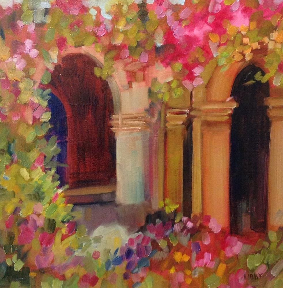 """Bougainvillea"" original fine art by Libby Anderson"