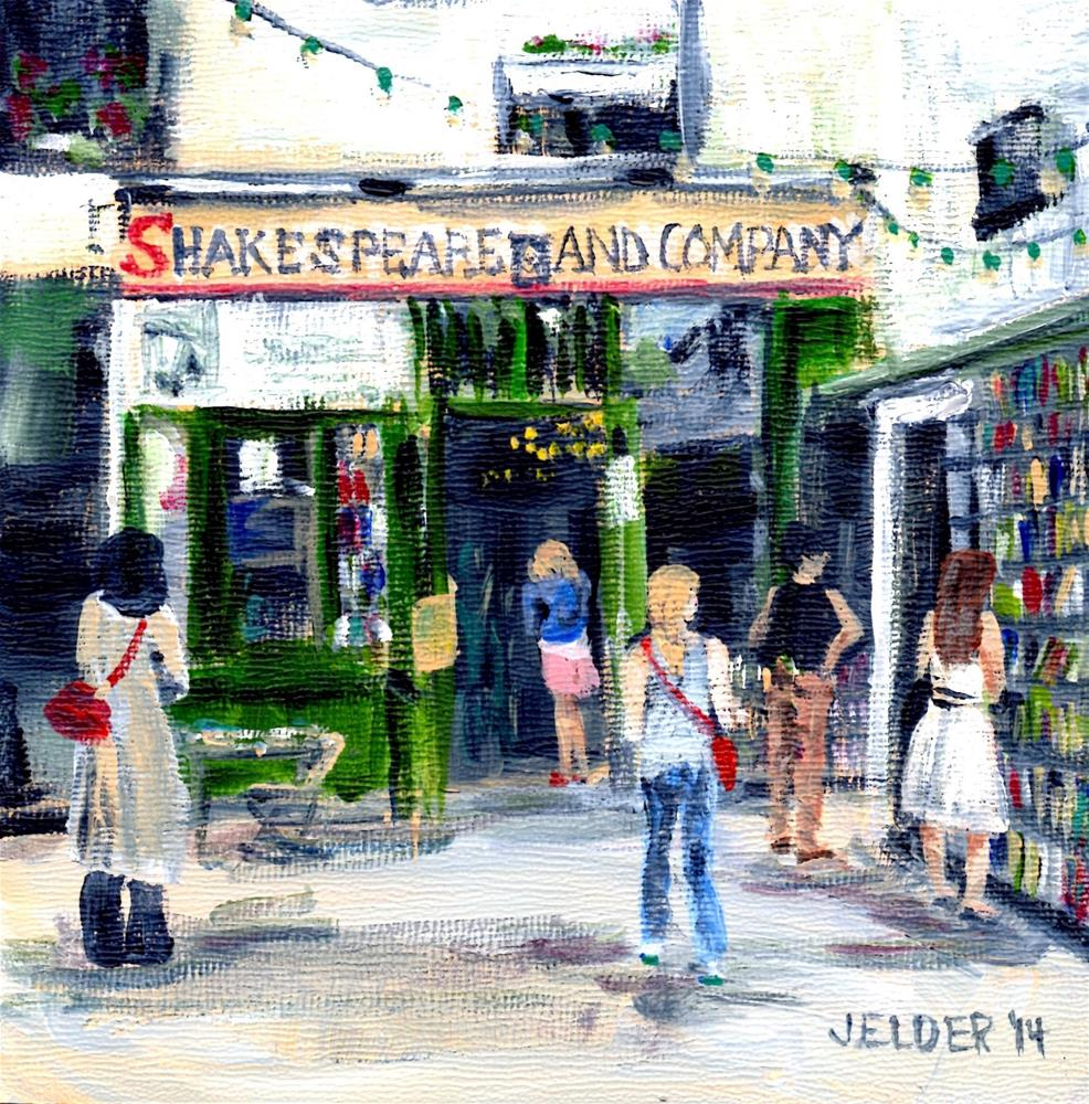 """Shakespeare and Co., Paris No. 56"" original fine art by Judith Elder"