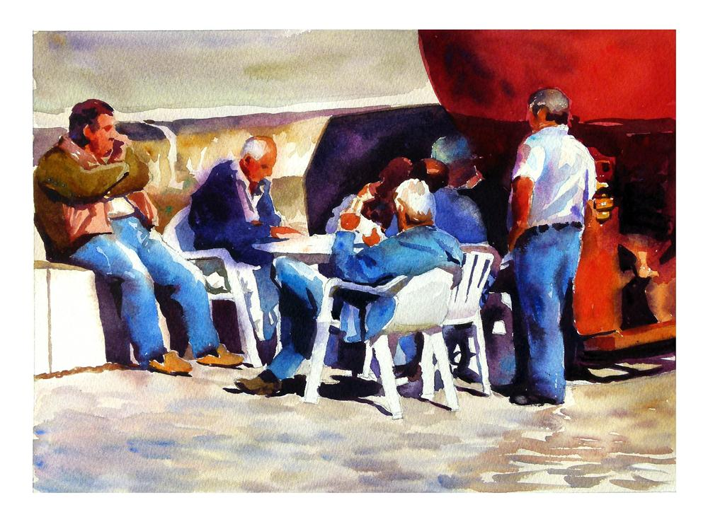 """Card school."" original fine art by Graham Berry"