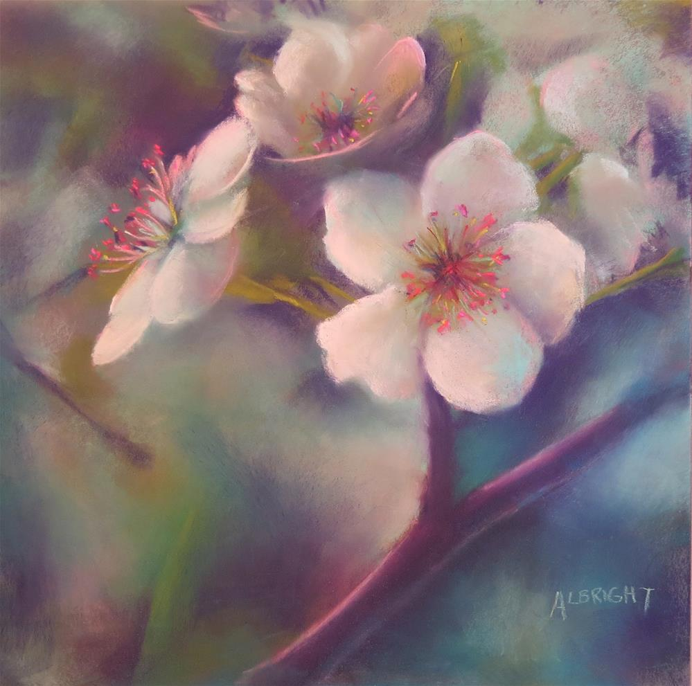 """Blossoms on Main Street"" original fine art by Judy Albright"