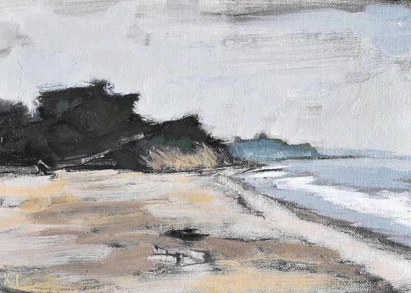 """Santa Barbara Beach Fog"" original fine art by Kevin Inman"