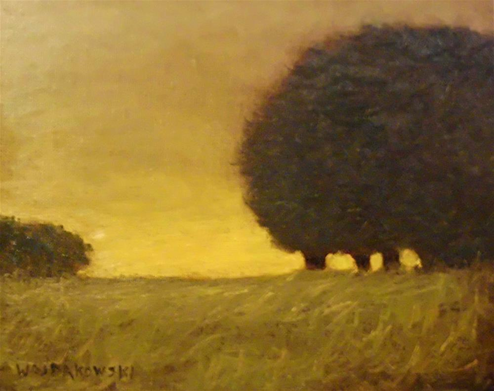 """Evening glow"" original fine art by Joe Wojdakowski"