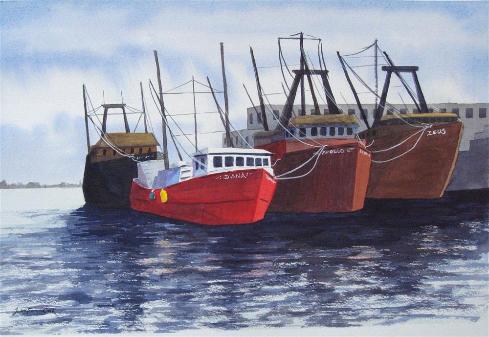 """Safe Harbor"" original fine art by Judith Freeman Clark"