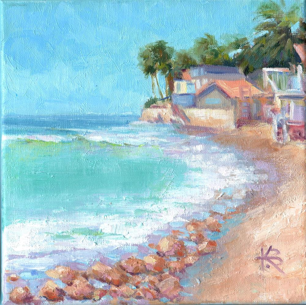 """Beach Bungalow"" original fine art by Kathy Bodamer"