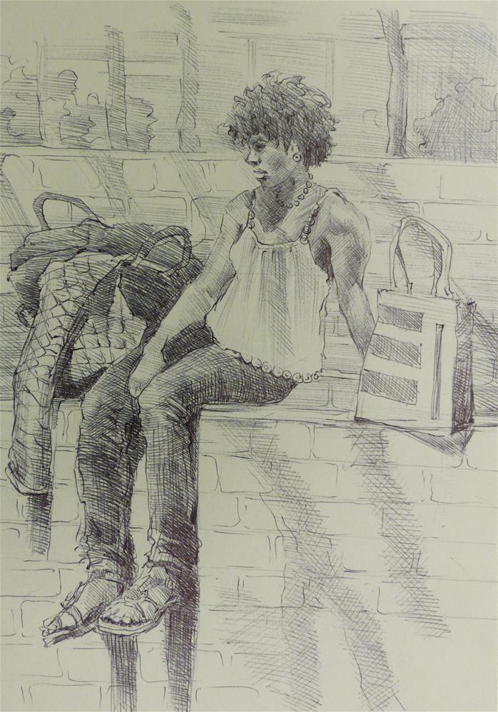 """500Faces-126"" original fine art by Katya Minkina"