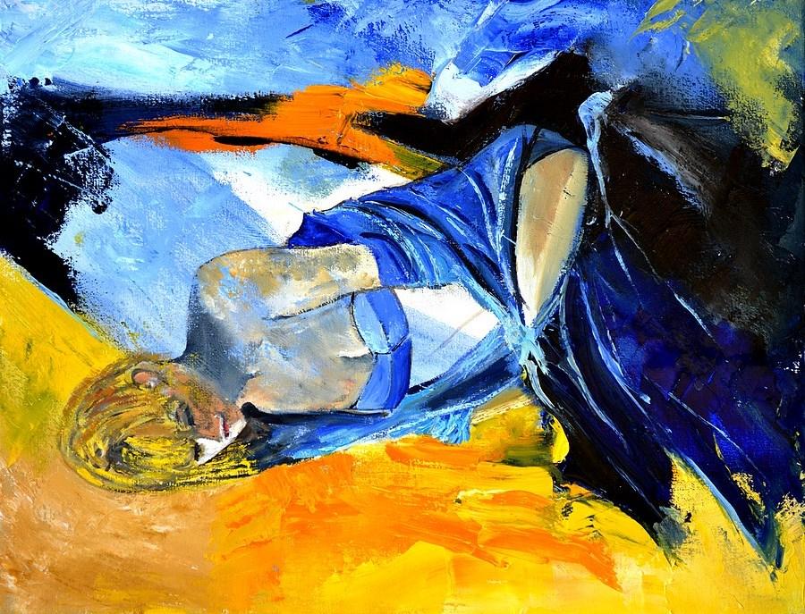 """young girl 455130"" original fine art by Pol Ledent"