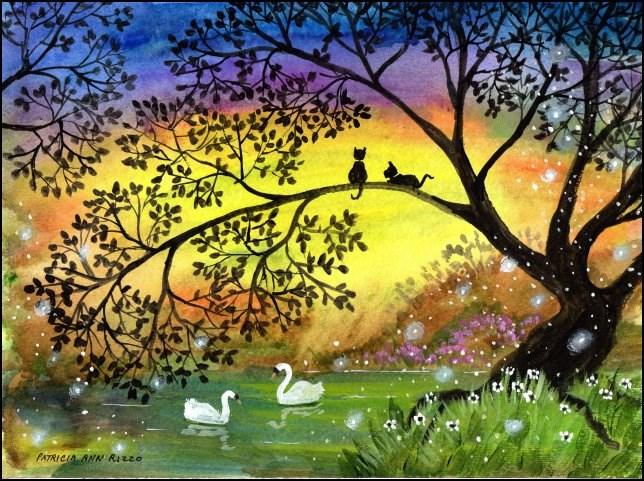 """""""Somewhere in the Secret Garden 2"""" original fine art by Patricia Ann Rizzo"""