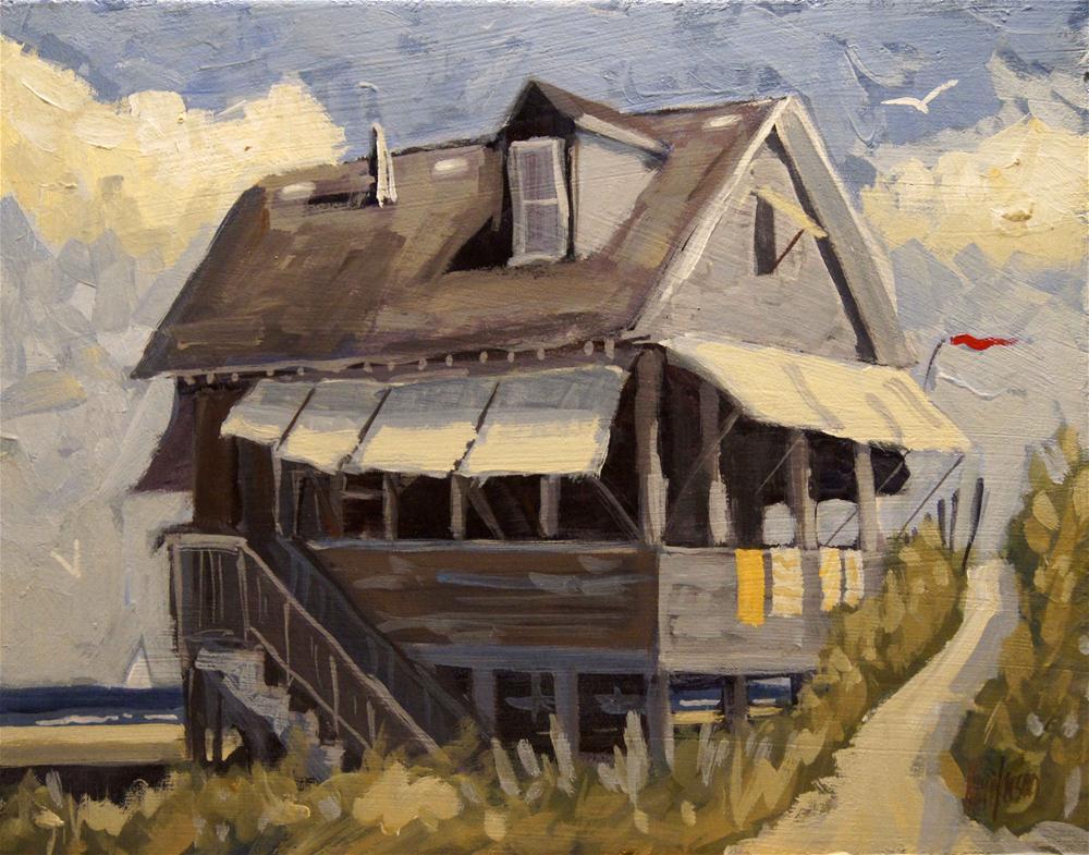 """Beach Cottage 6"" original fine art by Kevin Larson"