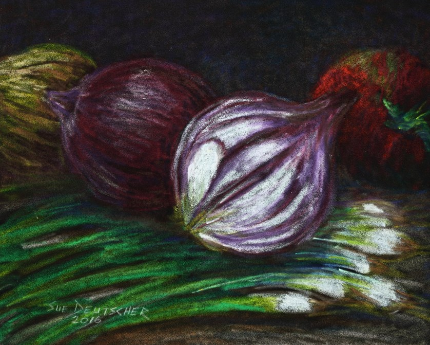 """Onions and Tomato"" original fine art by Sue Deutscher"