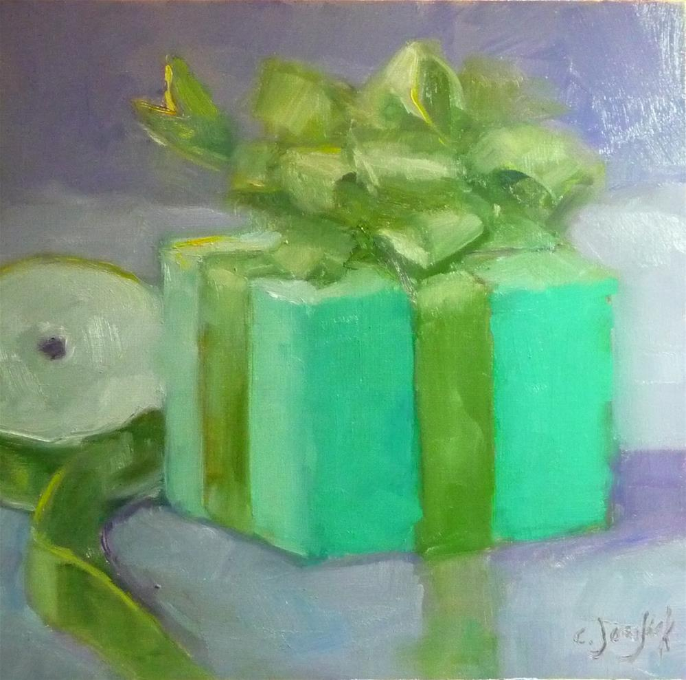 """Purple and Green"" original fine art by Carol Josefiak"
