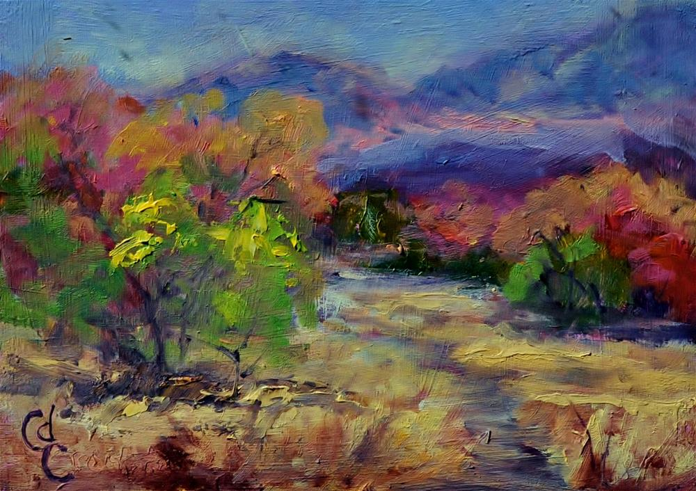 """Mountain Trail"" original fine art by Catherine Crookston"