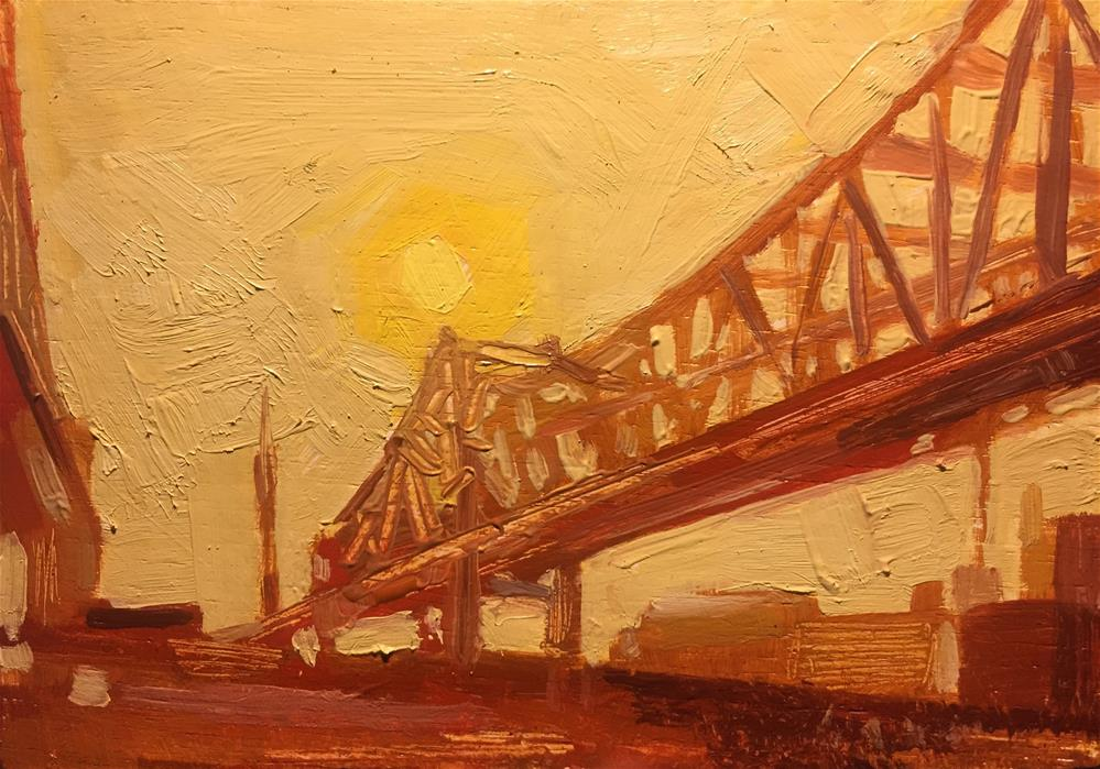 """Bridge Study- New Orleans"" original fine art by Chris Long"