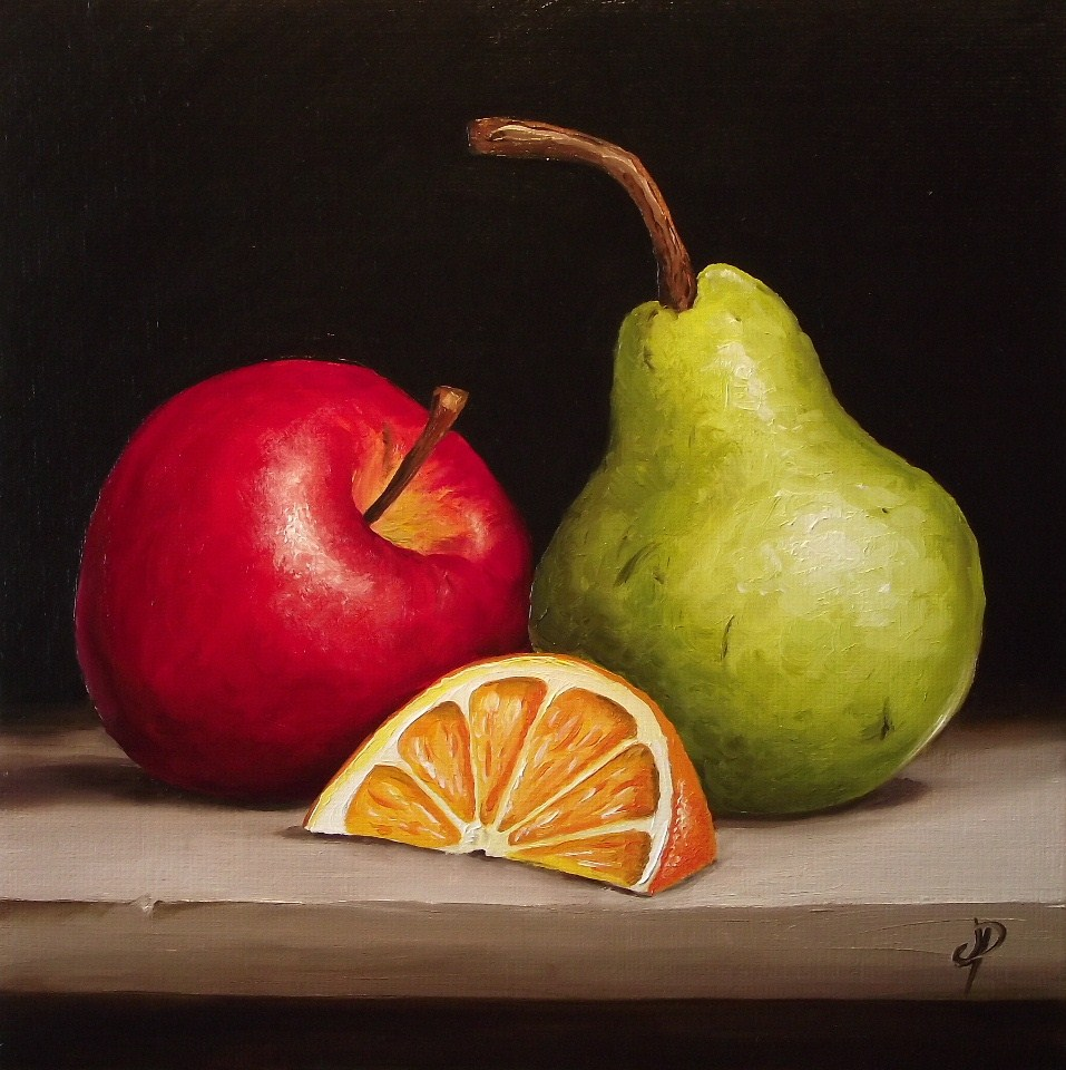 """Fruity Trio"" original fine art by Jane Palmer"